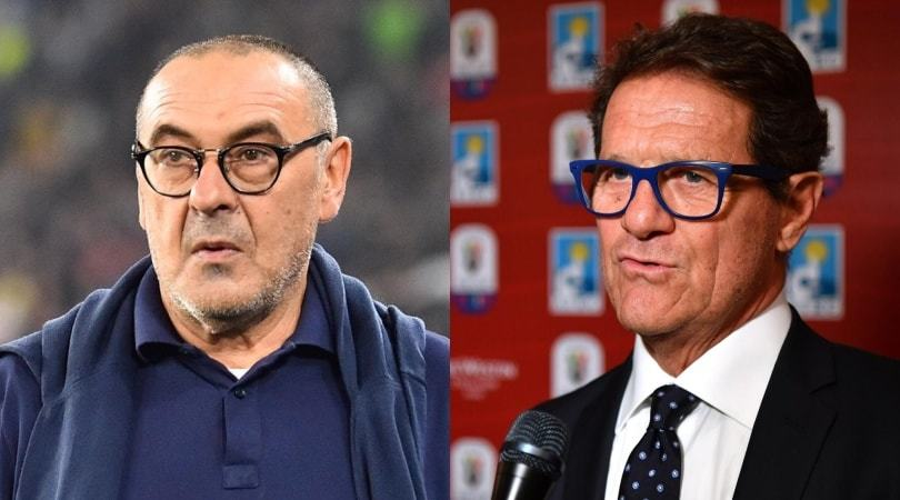 """Capello, Sarri e i 28 tiri della Juve: """"Forse ho visto un'altra partita"""""""