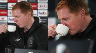 Celtic-Lazio, Lennon si scalda bevendo in conferenza