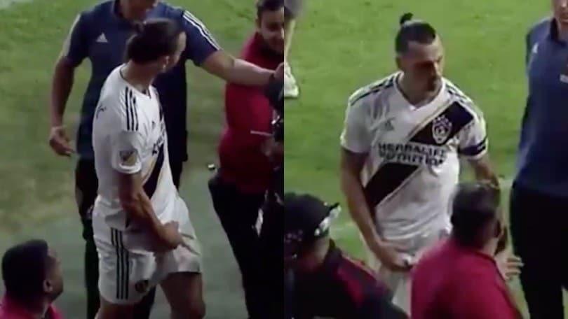 Ibrahimovic saluta l'Mls con un gestaccio a un tifoso. Ora può tornare in Italia