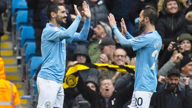 Premier: il Manchester City supera l'Aston Villa 3-0. Il Chelsea ne fa 4 al Burnley