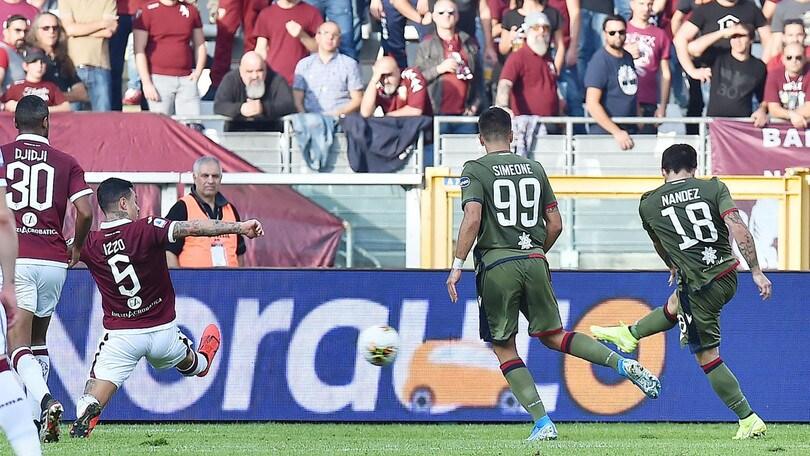 Serie A, Cagliari fermato dal Torino. Show dell'Atalanta: 7-1 all'Udinese!