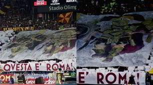 """La coreografia della Curva Sud: """"Tremate, questa è Roma!"""""""