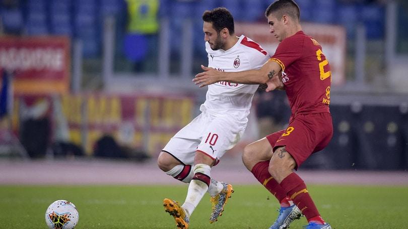 Roma-Milan 2-1, il tabellino