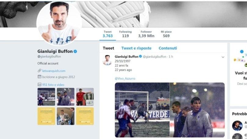 Buffon ricorda il suo esordio in nazionale: celebrato anche dall'Uefa