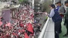 Argentina, Maradona osannato dai tifosi...avversari