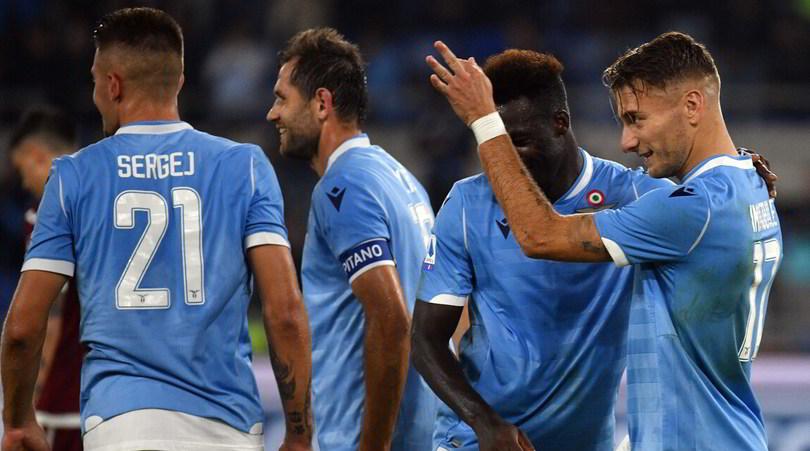 Lazio-Torino 4-0: eurogol di Acerbi e Immobile show, Inzaghi vola