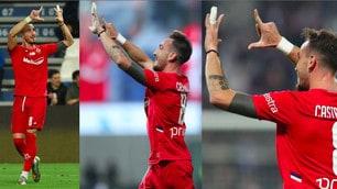 Sassuolo-Fiorentina: Castrovilli, gol ed esultanza per Ribery