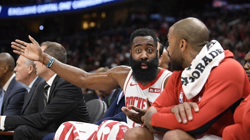 NBA: Harden show a Washington, Oklahoma di Gallinari ko con Portland
