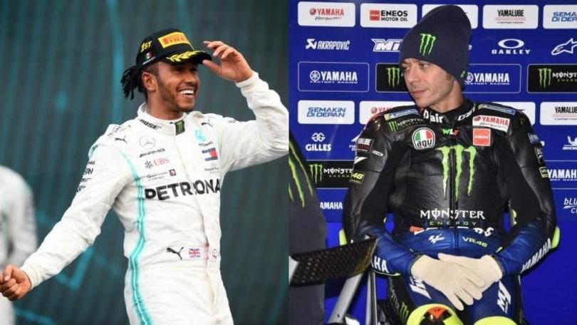 Hamilton in Motogp e Rossi in F1: ecco la data
