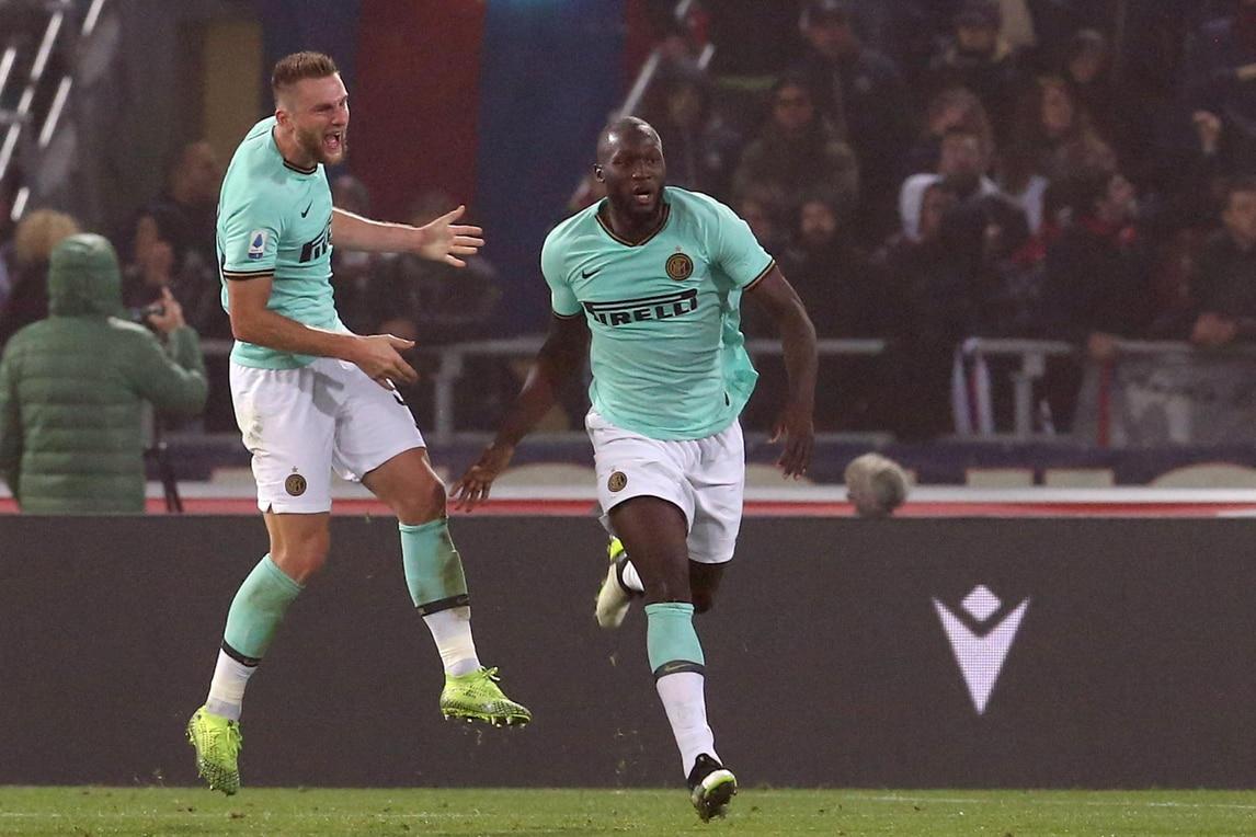 Lukaku trascina l'Inter. Soriano illude il Bologna