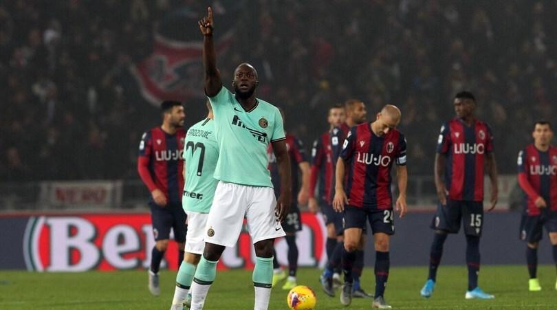 Bologna-Inter 1-2: Lukaku fa doppietta e ribalta il gol di Soriano