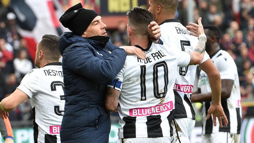 Udinese in rimonta sul Genoa, Brescia ko a Verona. Berardi salva il Sassuolo