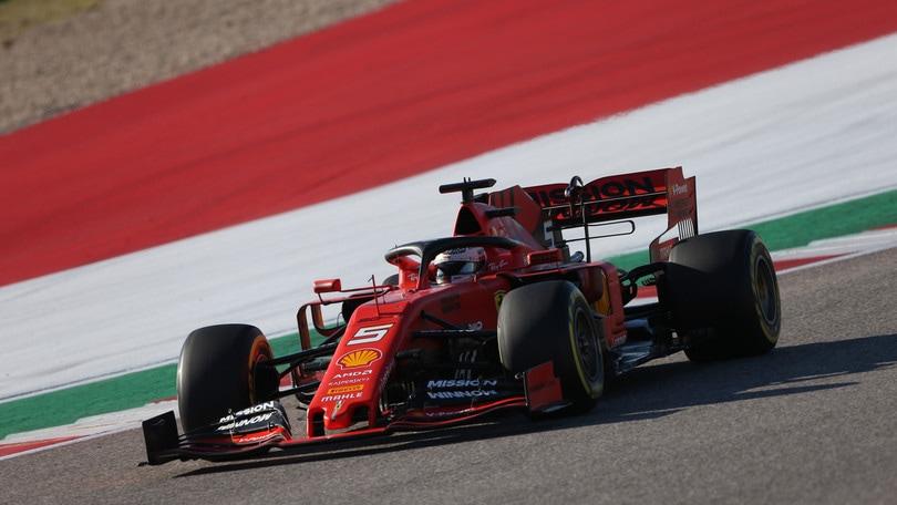Gp Usa: ritiro Vettel! Cede la sospensione destra della Ferrari