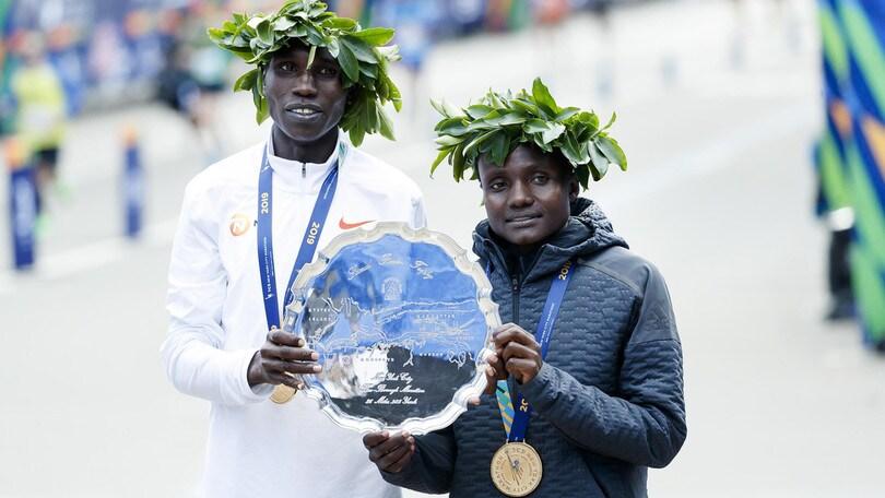 New York Marathon dei primatisti: vincono Kamworor e Jepkosgei
