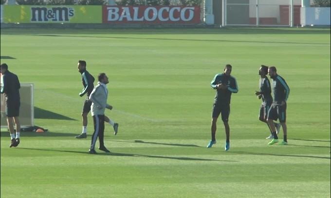 Allenamento mattutino per la Juventus