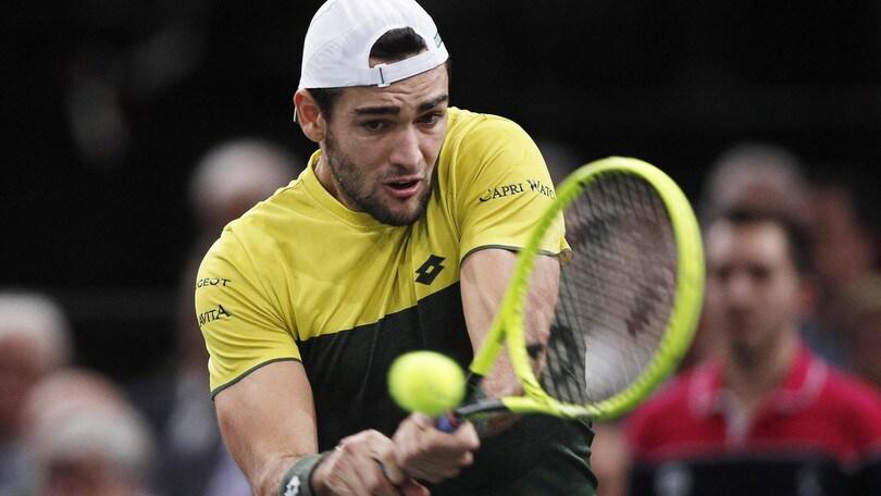 Atp Finals, Berrettini nel girone con Djokovic, Federer e Thiem