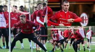 Milan, allenamento particolare: la squadra fa il limbo