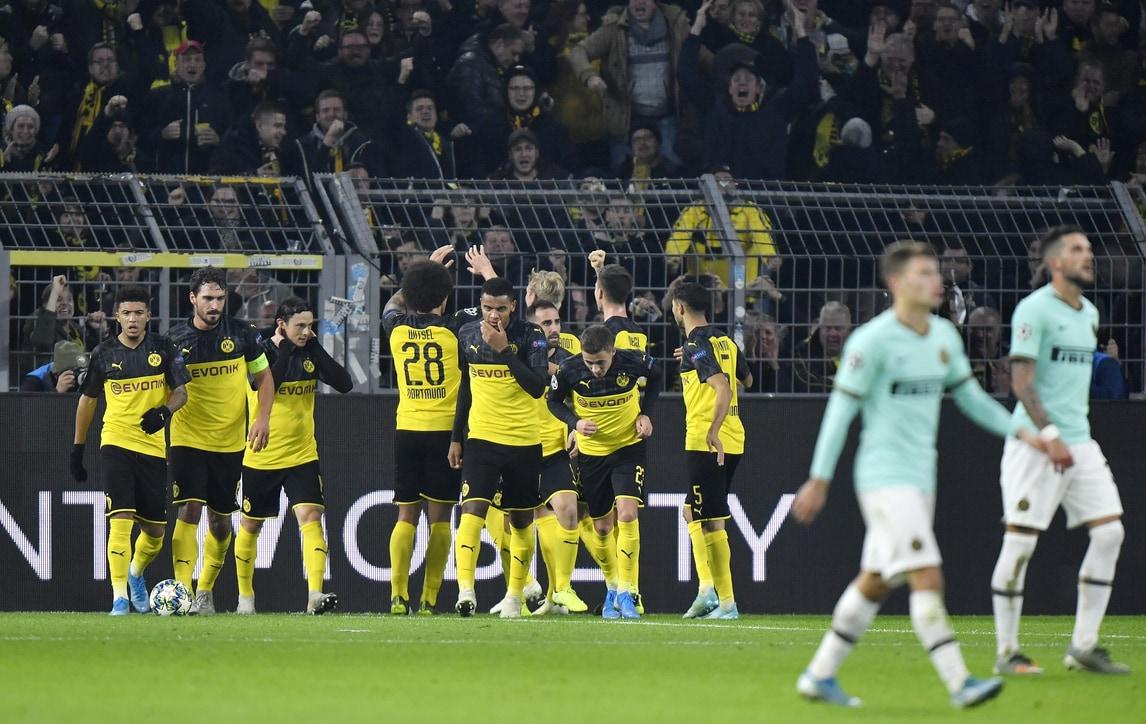 Inter, clamoroso crollo a Dortmund: da 0-2 a 3-2, Hakimi show!