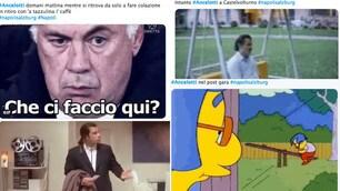 Napoli, Ancelotti da solo in ritiro: tifosi scatenati sui social network