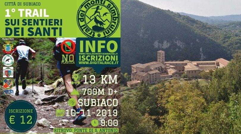 """""""Sui sentieri dei Santi"""", la corsa di trail a Subiaco"""