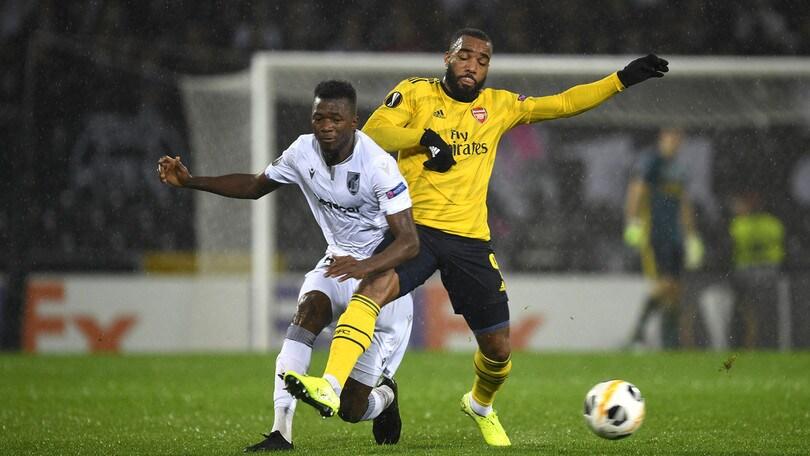L'Arsenal si fa rimontare nel finale: 1-1 con il Guimaraes