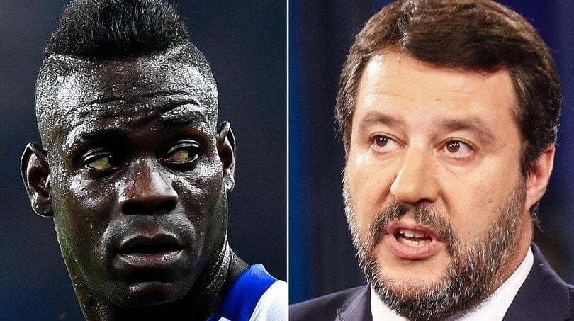 """Salvini: """"Balotelli? Un milionario viziato, non accettiamo lezioni"""""""
