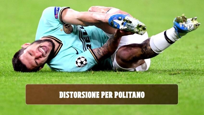 Inter, distorsione alla caviglia per Politano