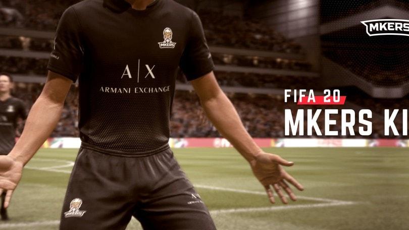FIFA20: i Mkers sono l'unico team italiano presente con la propria maglia