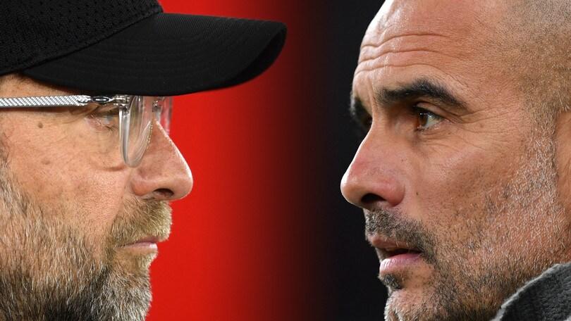 Liverpool-Manchester City, tra Klopp e Guardiola è guerra...di complimenti