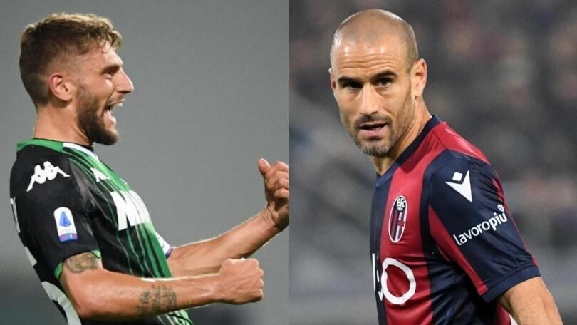 Diretta Sassuolo-Bologna ore 20.45: formazioni ufficiali e come vederla in tv