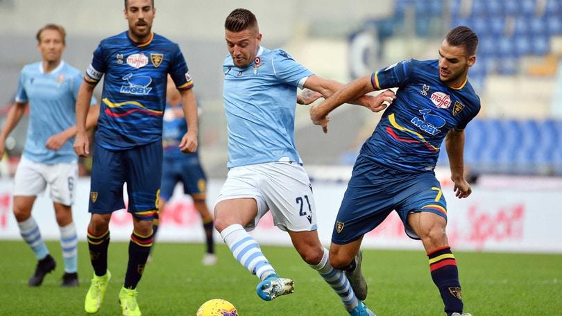 Lazio-Lecce 4-2, il tabellino