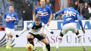 L'Atalanta frena con la Samp, sorridono Lazio e Roma