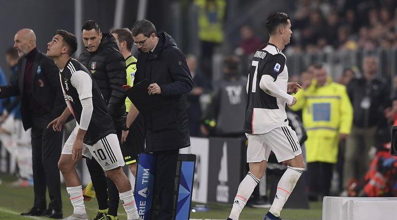 Ronaldo sostituito con il Milan: scontento, scappa via dall'Allianz Stadium