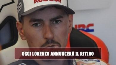 MotoGP, oggi Lorenzo annuncerà il ritiro