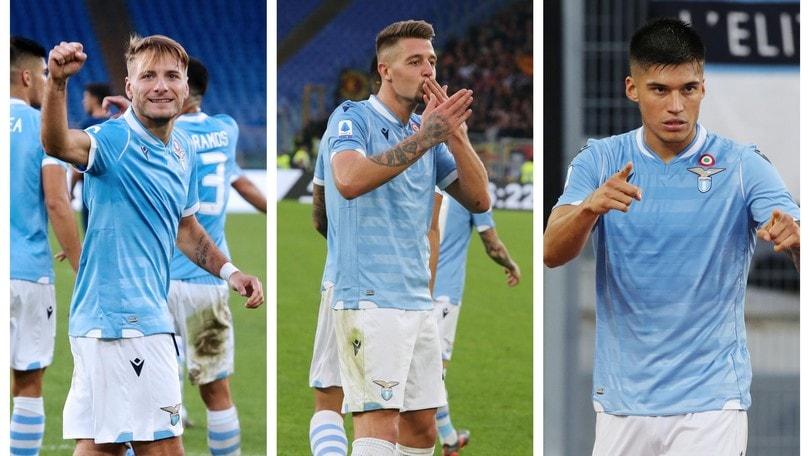 Lazio, il terzetto d'attacco ti fa volare: in Europa le big sono dietro