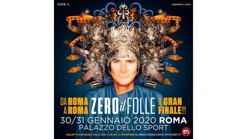 Renato Zero, gran finale a Roma