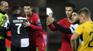 Invade il campo con la maglia della Juve per un selfie con Ronaldo