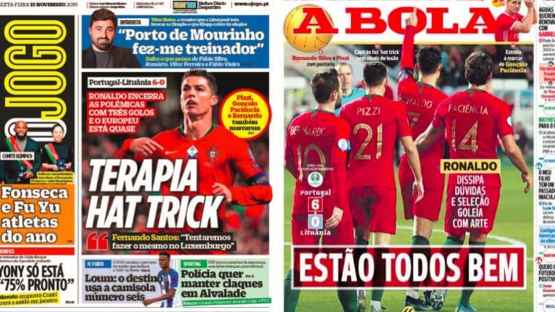 Ronaldo protagonista in nazionale, la stampa portoghese: