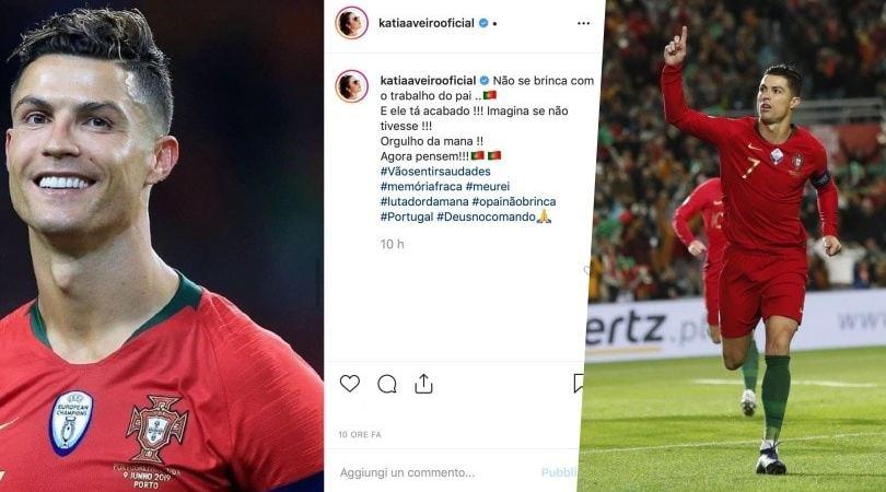 """La sorella di Cristiano Ronaldo polemica su Instagram: """"Non si scherza con lui"""""""