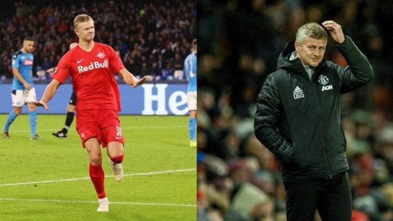 Haaland, Juventus attenta: Solskjaer manda il suo scout a studiarlo