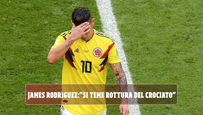 Colombia, infortunio per James Rodriguez: si teme rottura crociato