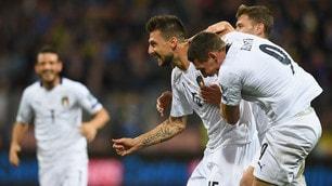 Primo gol in azzurro per Acerbi. L'Italia vince 3-0 in Bosnia