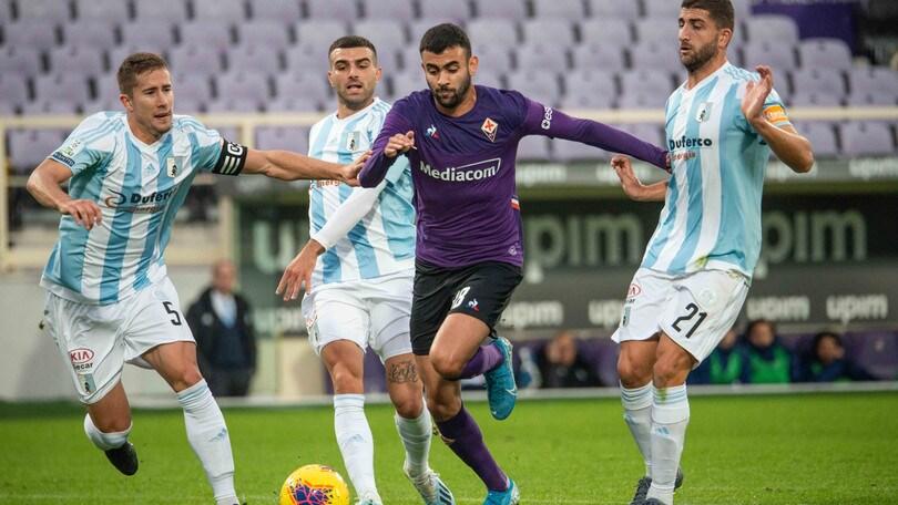 Fiorentina, pokerissimo all'Entella: Ghezzal sugli scudi