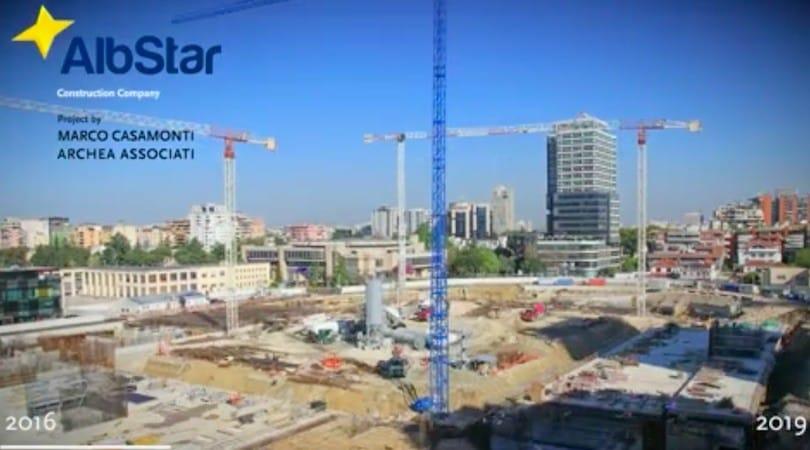 Nuovo Stadio Nazionale dell'Albania a Tirana, il timelapse della costruzione