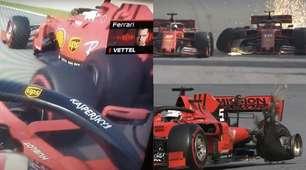 Bufera Ferrari, la sequenza dello scontro tra Vettel e Leclerc in Brasile
