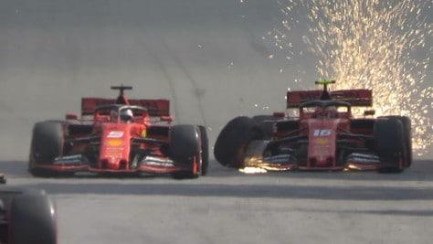 """Vettel e Leclerc, che scintille: """"L'incidente? Servirà un chiarimento"""