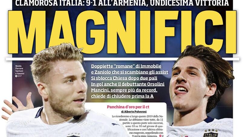 """""""Magnifici"""". Mancini: """"Siamo stati grandi"""""""