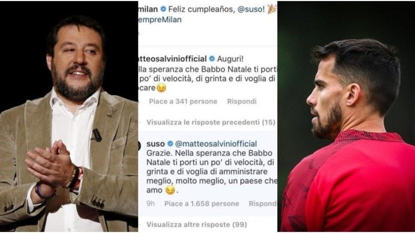 Milan, Salvini contro Suso: botta e risposta sui social