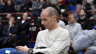 Allegri guarda l'Olimpia Milano: uno spettatore d'eccezione al Forum