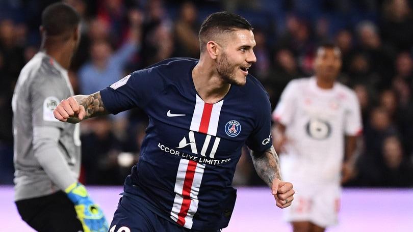 Il Psg supera 2-0 il Lille, Icardi ancora in gol